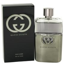 Gucci Guilty by Gucci Eau De Toilette Spray 3 oz for Men #481568 - $81.43