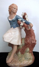 Large Nadal Spain Lady Figurine - Gres Finish - $54.45