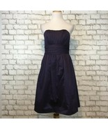 David's Bridal Women's Purple Strapless Bridesmaid Dress Size 6 Style 83312 - $31.49