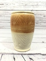 "Vintage Roseville Ohio R Ransbottom Vase #101 8"" Tall 5"" wide Tan Gold B... - $42.08"