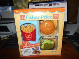 Fisher Price McDonald's Big Mac Toy Vintage 1988 Food Kit  Original Box ... - $87.12