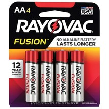 Rayovac 815-4TFUSK Fusion Advanced Alkaline Aa Batteries, 4 Pk - $22.67