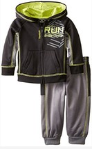 Reebok Baby-Boys' Run Everything Set ,QBF54024, Black, Size 5, MSRP $52 - $27.71