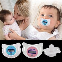 Digital LCD Pacifier Thermometer Baby Nipple Soft Safe Mouth Thermometer - $19.99