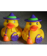 2 Large Halloween Rubber Witch Trick-or-Treat Duckies - $3.99