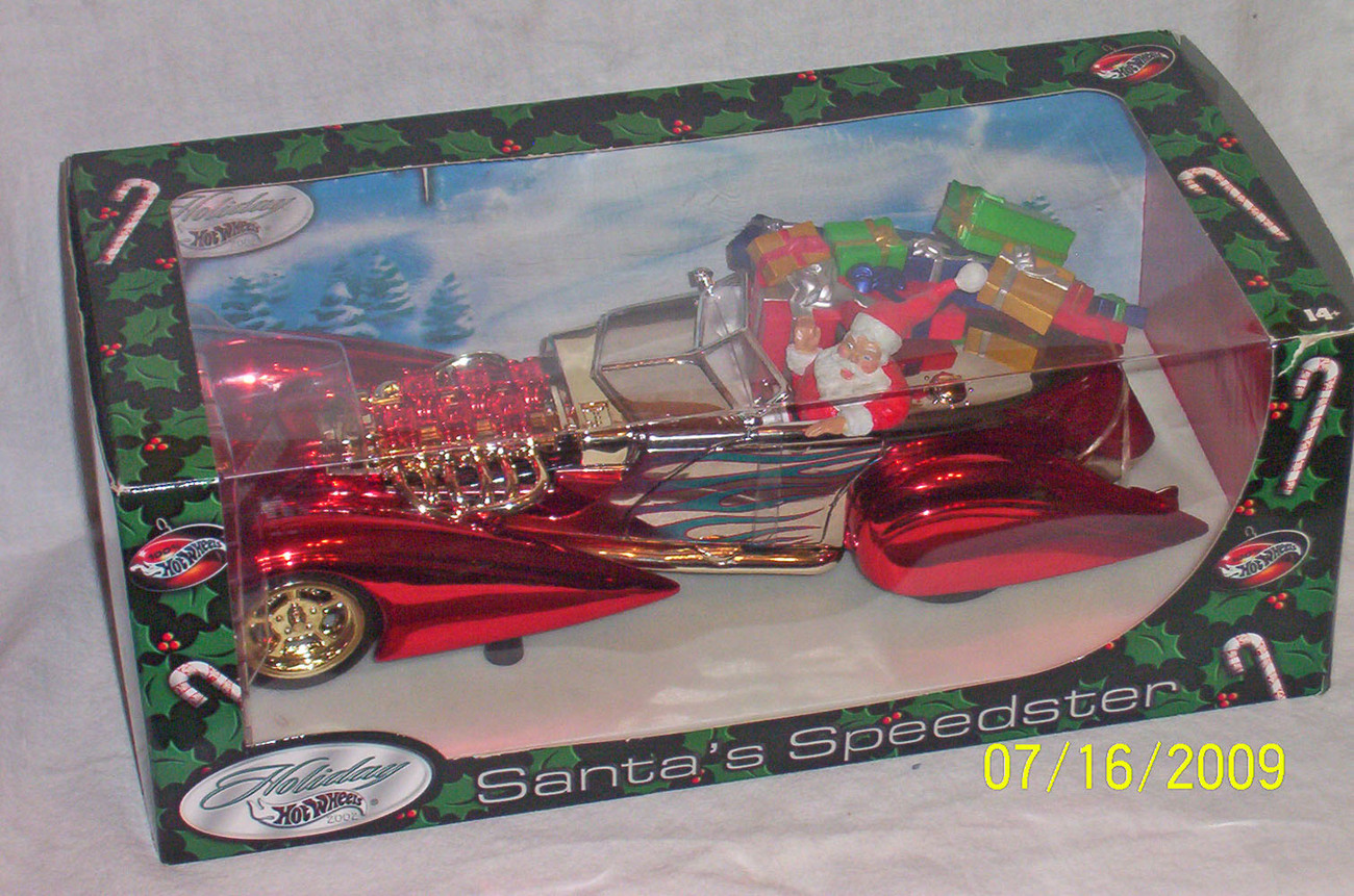 Holiday Hot Wheels Santa's Speedster 2002 Mattel 1/18 scale Larry Wood designer