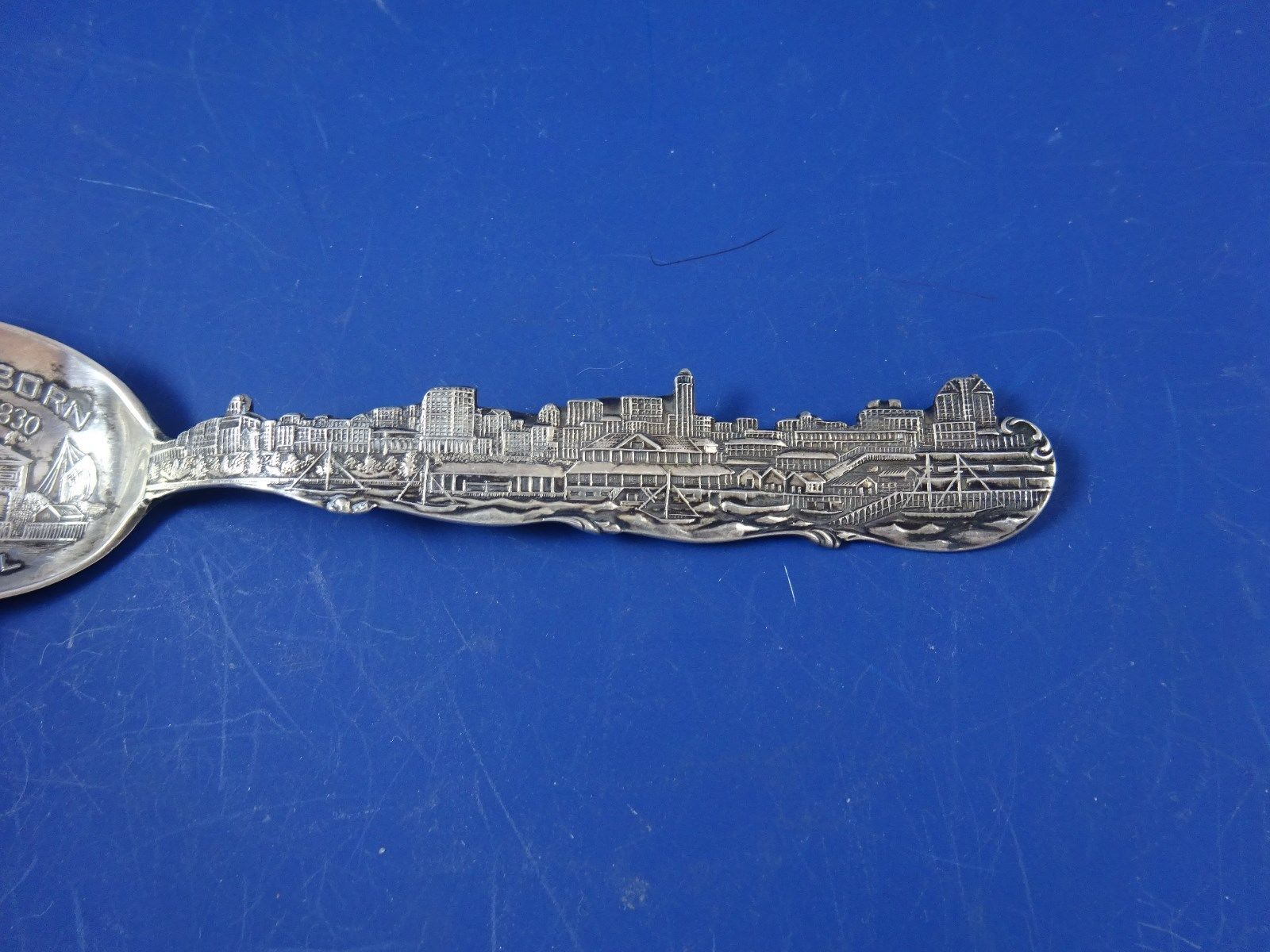 Ft. Dearborn  Souvenir Spoon Sterling Silver  Chicago, ILLINOIS image 3