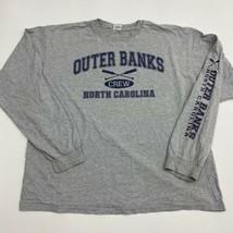 Anvil Shirt Men's Size 2XL Long Sleeve Gray Outer Banks North Carolina - $17.99