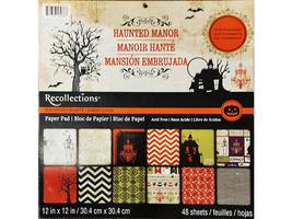 Recollections Haunted Manor 12x12 Cardstock Paper Pad #283699   HALLOWEEN!