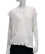 RACHEL Rachel Roy Cap-Sleeve Wrap T-Shirt White S NWT - $37.41