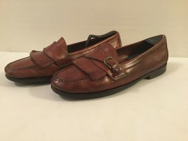 Men's 13 M Cole Haan  Casual Loafers Tassel and Buckel Brown Excellent Condition - $24.74