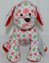 GANZ Brand Webkinz Collection HM691 Red Blue Green Color Snowflake Pup - $15.00