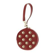 NWT Michael Kors Jet Set Stud Embellishment Coin Wristlet Cherry 32H6GPMP1U NEW - $55.44