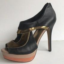 Jessica Simpson 'Evanne' Open Toe Platform Heels 8.5B Black - $26.84