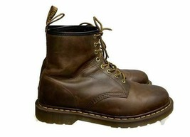 Dr. Martens 1460 Crazy Horse Boots 8 Eyelet Leather Boots Brown Size 12 - $91.99