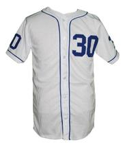 Benny Rodriguez #30 The Sandlot Movie Button Down Baseball Jersey White Any Size image 3