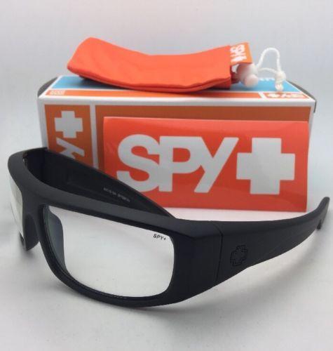 b1e0227387 New SPY OPTIC Safety Glasses LOGAN Matte Black Frames w  Clear ANSI Z87.1