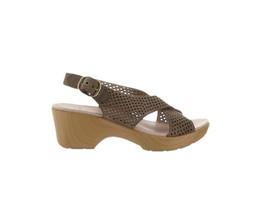 Dansko Perforated Sandals Jacinda Walnut 38=7.5-8US NEW A289112 - $74.23