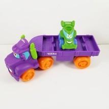 TONKA Chuck & Friends CAR CARRIER with ATV Wheel Pals RARE PURPLE Semi H... - $24.99