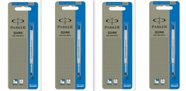 4 x Parker Quink Flow BallPoint Ball point Pen Refills BallPen Blue Fine... - $7.99