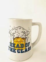 Vintage Applause Mug 1984 Beer Stein Head Of The Class Coffee Cup Gradua... - $15.79