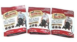 Bil-Jac 3 Pack America's Vetdogs Skin and Coat Dog Treats, 10 Ounces Each