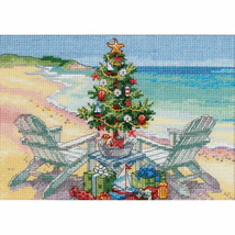 Dimensions Christmas on The Beach Cross Stitch Kit Gold Petites Collections New - $22.02