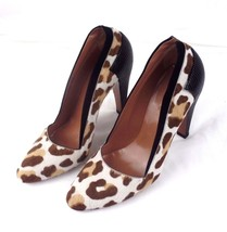 ALAIA Paris Pumps Size 37 Brown Pony Hair Leopard Print Black Lizard Tri... - $111.27