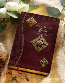 Brass jeweled bible