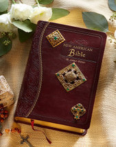 Brass Jeweled Bible image 1