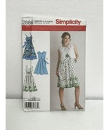 Simplicity 2886 Sewing Pattern Misses Dress Bodice Vrtn & Bolero R5 14-2... - $14.84