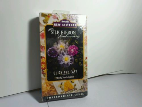 Collectible vintage DIY guide in SILK embroidery stitches VHS *SEALED*