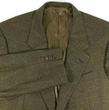 Hickey Freeman Sport Coat Mens Size 42 R Canterbury Silk / Wool Brown Plaid - $55.40
