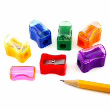 72pcs Rainbow Plastic Assorted Pencil Sharpeners School Classroom Bulk S... - $6.35