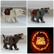 3pcs The Hobbit The Lord Of The Rings  Wargs Attack Wolf Animal Minifigures Toys - $11.99