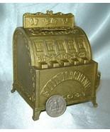 Vintage Gold Metal Slot Machine Coin Bank (w/ Sankyo Music Box - not working) - $19.50