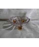 EAPG c1890s Clear Beaded Swirl 3 Footed Vaseline Toes #335 by Duncan & M... - $10.00