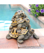 Three's a Crowd Stacked Turtle Statue - $778,17 MXN
