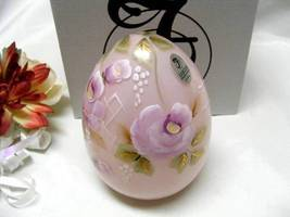 3801 Fenton Roses on Rosemilk Overlay Large Egg - $135.00