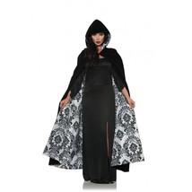 Ste Velours de Luxe & Satin Floqué Cape Blanc Déguisement Halloween 28081 - $36.70