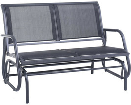 Outdoor Glider Chair Patio Bench 2 Person Swing Garden Loveseat Rocking ... - £116.62 GBP