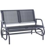 Outdoor Glider Chair Patio Bench 2 Person Swing Garden Loveseat Rocking ... - $142.66