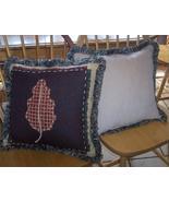 Pair of Leaf Print Pillows 18 x 18 - $35.79