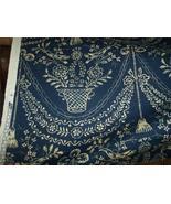 Blue/Cream Print Fabric/Upholstery Fabric  1 YD - $18.08