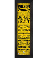 """Personalized Appalachian State University """"Family Cheer"""" 24 x 8 Framed P... - $39.95"""