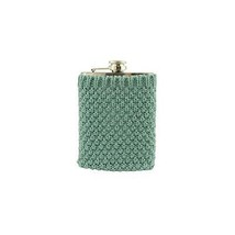Wild Eye Stainless Steel Drinking Flask with Cozy Robin's Egg Blue Sweater - €23,86 EUR