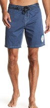 New with Tag - Quiksilver Ghetto Acid Wash Dark Denim Blue Board Shorts Size 32 - $17.81
