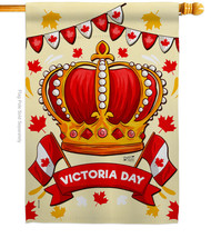 Celebrate Victoria Day - Impressions Decorative House Flag H137469-BO - $36.97
