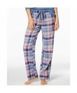 Jennifer Moore Womens Printed Cotton Pajama Pants Jan Plaid - $21.99