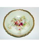 Vintage P.K. Silesia Round Vegetable Bowl Rose Floral Roses   - $20.00